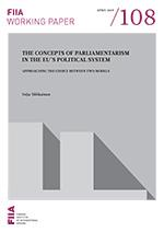 The Concepts of parliamentarism in the EU's political system:
