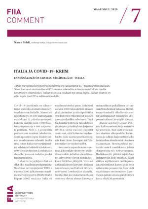 Italia ja covid-19-kriisi: Ennennäkemätön taistelu vähäisellä EU-tuella