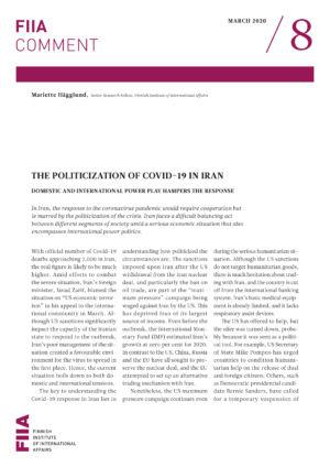 The politicization of Covid-19 in Iran: Domestic and international power play hampers the response