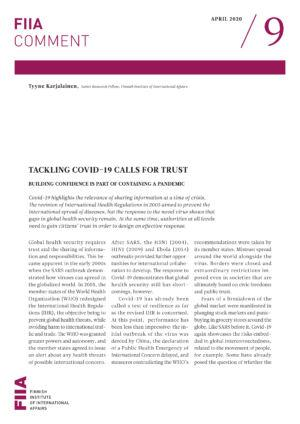 Tackling Covid-19 calls for trust: Building confidence is part of containing a pandemic