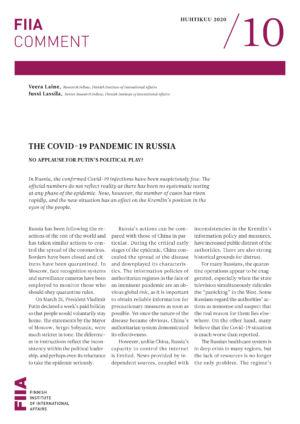 The Covid-19 pandemic in Russia: No applause for Putin's political play?