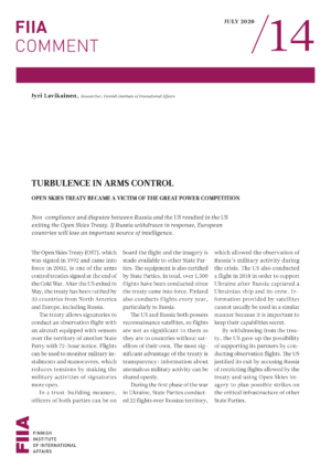 Turbulence in arms control: Open Skies Treaty became a victim of the great power competition