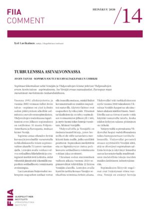 Turbulenssia asevalvonnassa: Avoin taivas -sopimus joutui suurvaltakilpailun uhriksi