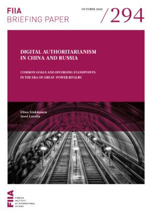 Digital authoritarianism in China and Russia: Common goals and diverging standpoints in the era of great-power rivalry