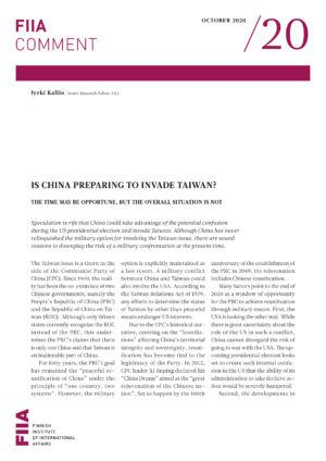 Is China preparing to invade Taiwan? The time may be opportune, but the overall situation is not