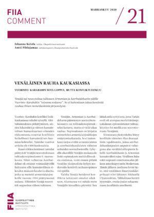 Venäläinen rauha Kaukasiassa: Vuoristo-Karabahin sota loppui, mutta konflikti jatkuu