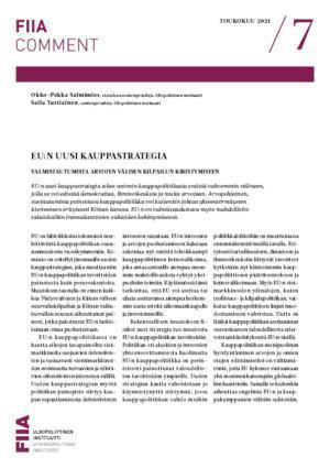 EU:n uusi kauppastrategia: valmistautumista arvojen välisen kilpailun kiristymiseen