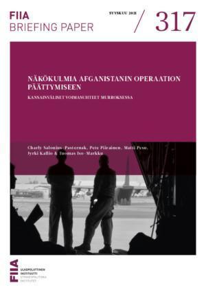Näkökulmia Afganistanin operaation päättymiseen: Kansainväliset voimasuhteet murroksessa